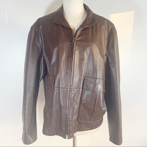 VTG 70s genuine leather bomber jacket by Remy